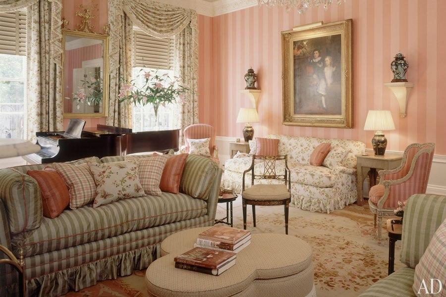 Гостиная в доме 1815 года в Вашингтоне. 1993