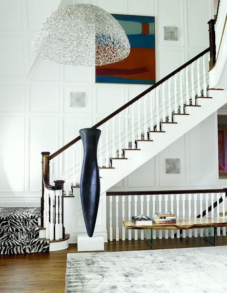 Прямая лестница с одной площадкой